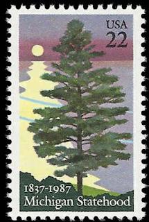 Michigan Statehood USA United States 22 Cent