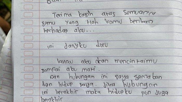 Gantung Diri, Gadis 17 Tahun Tinggalkan Mantan Pacar Surat: Jika Hubungan Berakhir Maka Hidupku Juga