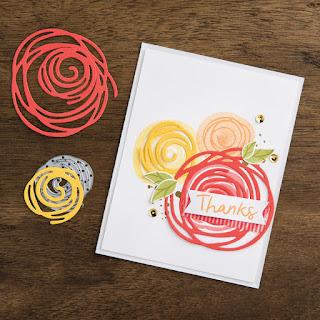 Stampin' Up! Swirly Bird + Swirly Scribbles Dies (on sale until 1-3-17) #stampinup www.juliedavison.com