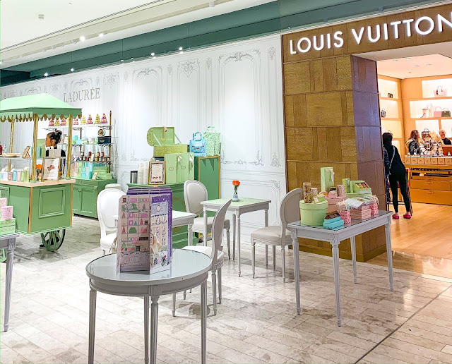 Laduree and Louis Vuitton Selfridges Manchester Exchange Square