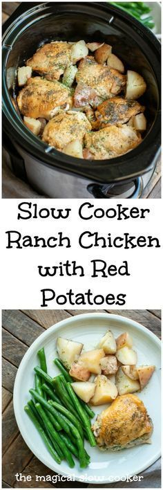 SLOW COOKER RANCH CHICKEN AND RED POTATOES RECIPE