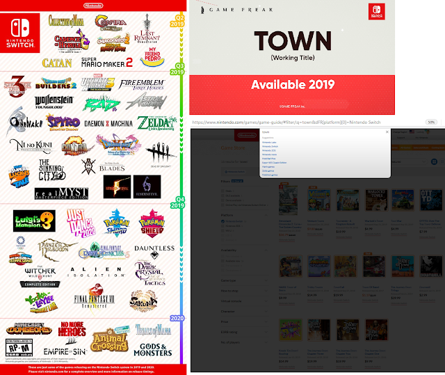 Nintendo E3 2019 release schedule where is Town GAME FREAK Nintendo Switch 2020