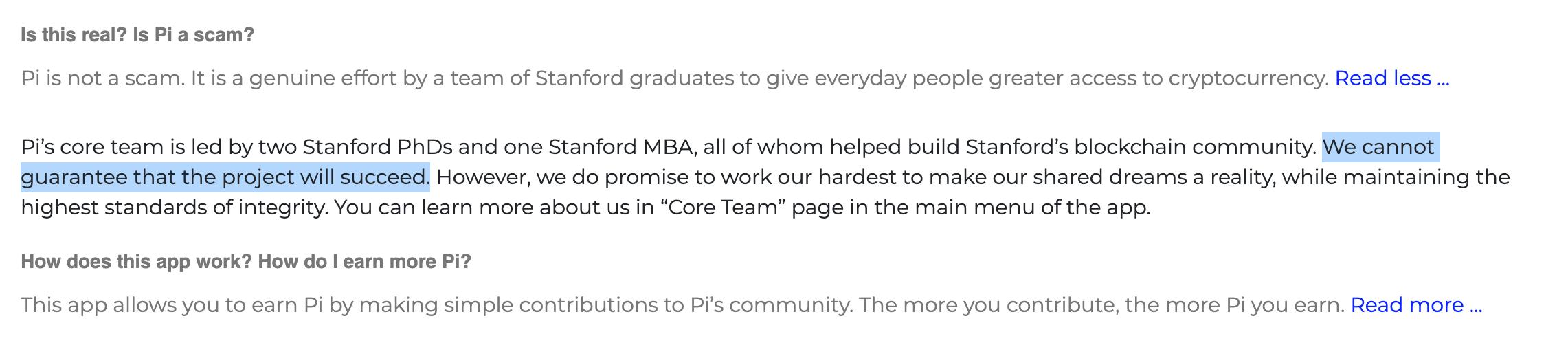 أصحاب عملة Pi Network لا يضمنوا نجاح مشروع العملة الرقمية المشفرة