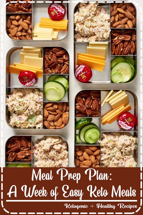 this easy meal prep and plan template is great for beginners looking to cook for the week Meal Prep Plan: A Week of Easy Keto Meals
