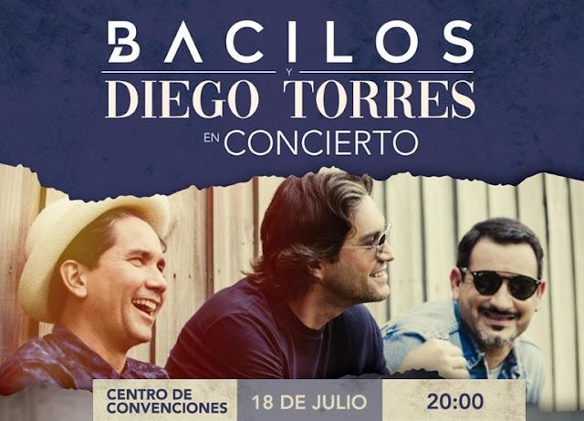 concierto de Bacilos y Diego Torres en Ecuador
