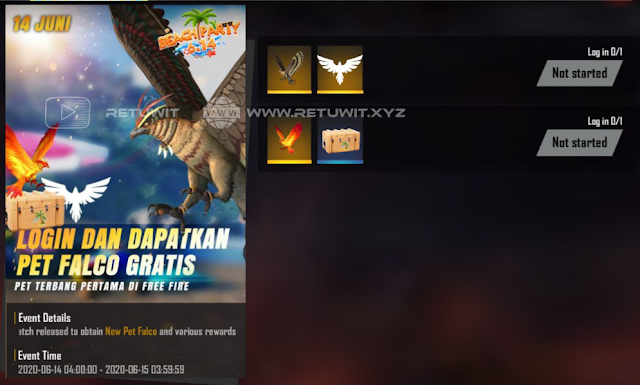 Cara Mendapatkan Pet Falco Plus Skin Hell Fire Gratis Event Beach Part FF