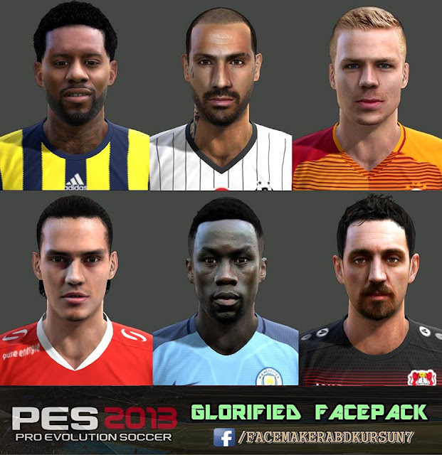 PES 2013 GLORİFİED FACEPACK by Facemaker AbdKursun7