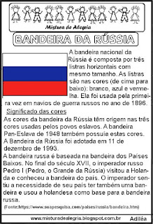 Texto sobre a bandeira da Rússia