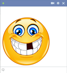 Emoticon missing a tooth
