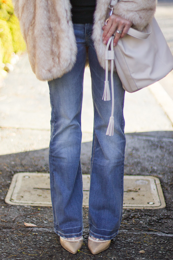 flare jeans with heels