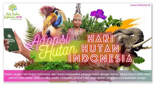 gerakan adopsi hutan hari hutan indonesia