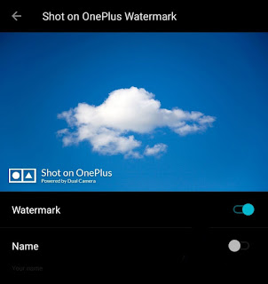 Remove shot on OnePlus watermark