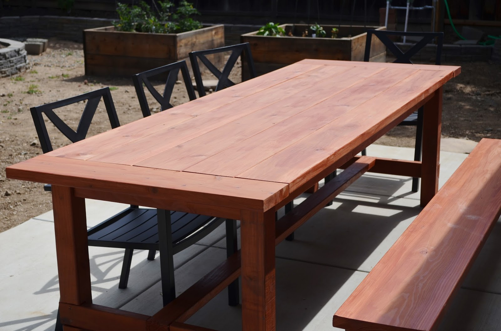 Snugglebug University: Farmhouse Patio Table and Bench