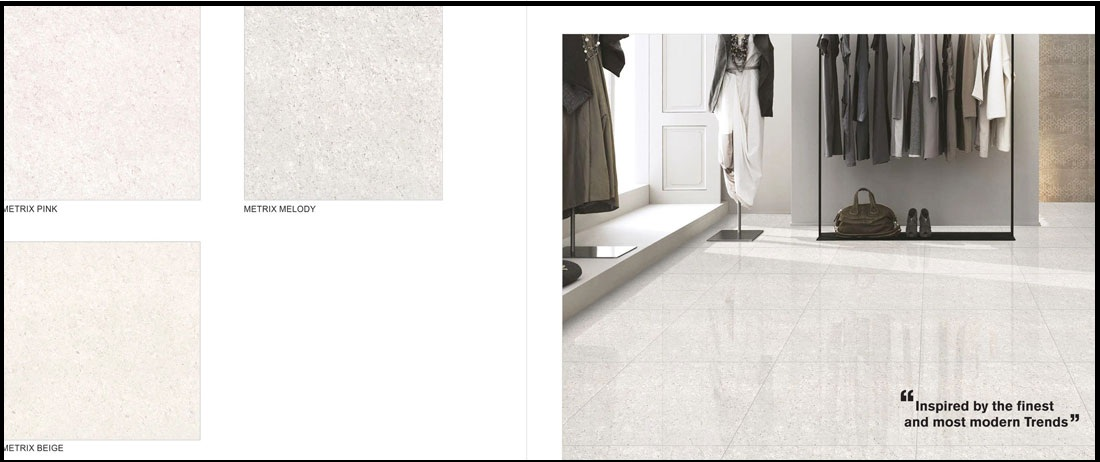 24x24 white polished porcelain tile