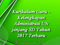 Kelengkapan Administrasi UN jenjang SD Tahun 2017 Terbaru