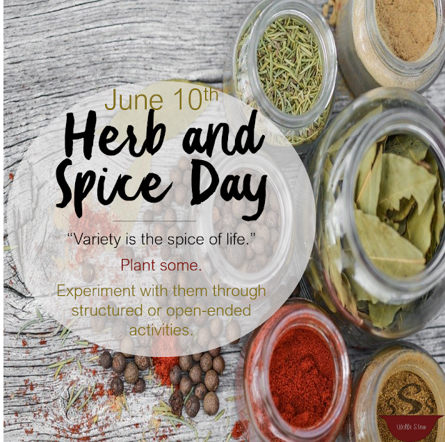 Encourage your learner to experiment with herbs and spices.