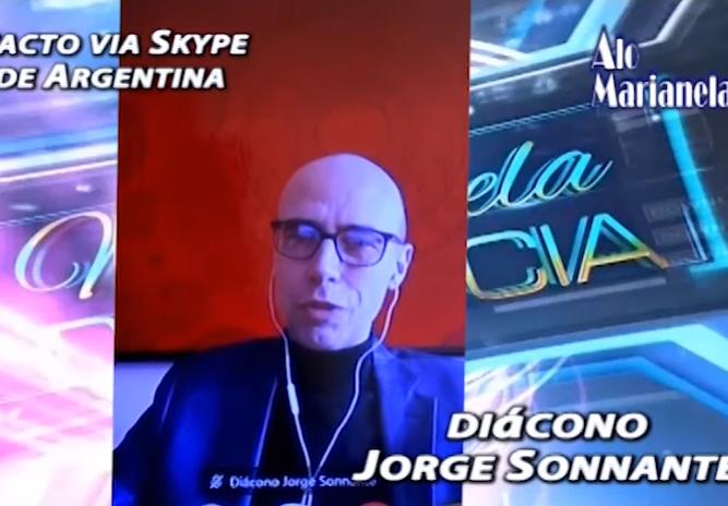 El autodenominado diácono argentino entrevistado por Montenegro y Vacaflor / CAPTURA PANTALLA