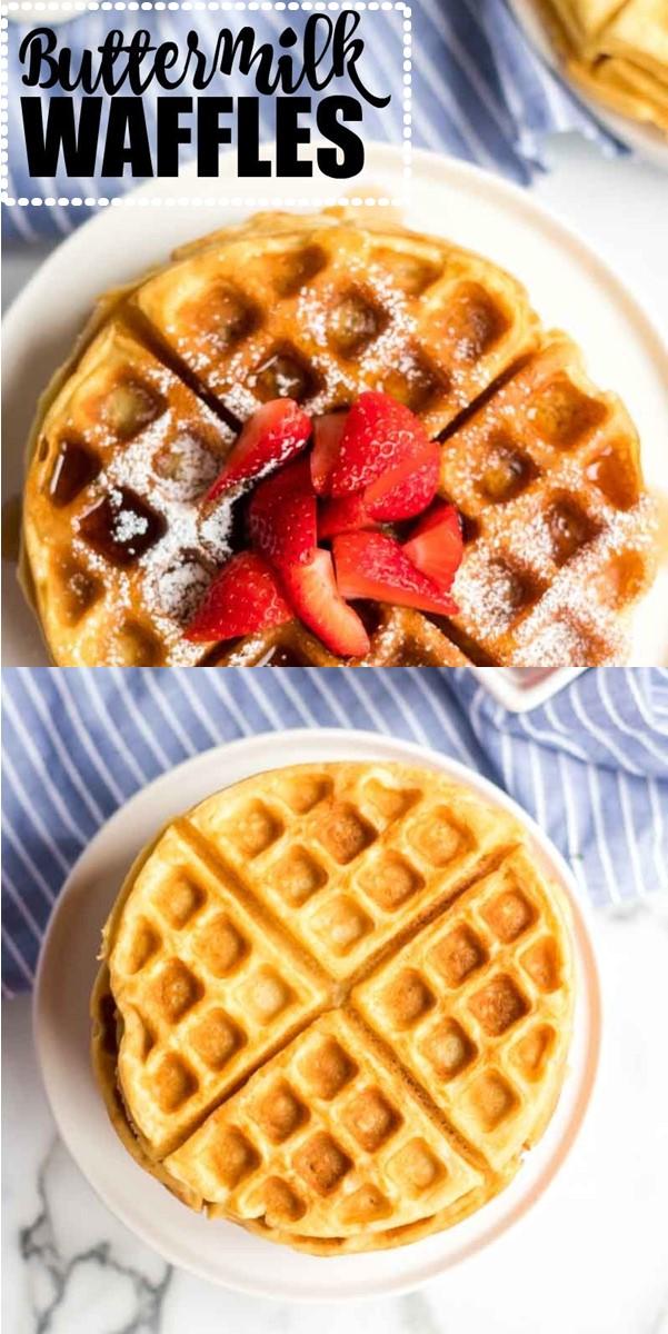 Buttermilk Waffles #breakfastideas
