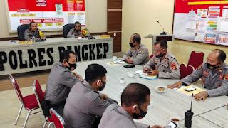 Kapolres Pangkep Pimpin Langsung Anev Pelaksanaan Kegiatan Posko Balla Ewako dan Kesiapan Tahapan Pilkada