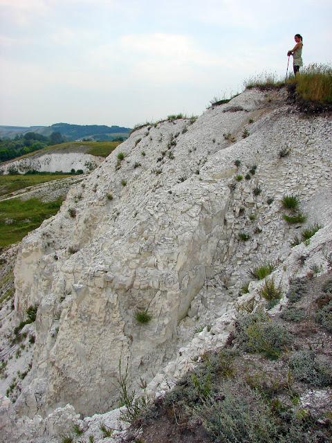 Меловая гора возле села Каменка Двуречанского района