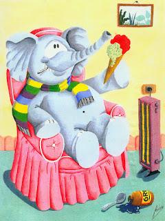 Elefante resfriado