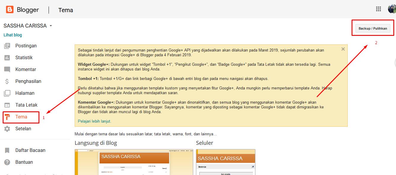 Cara Ganti Template Blog yang Sangat Mudah Hasil Download