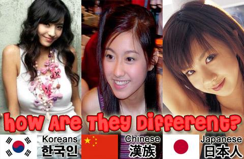 Chinese Vs Japanese Vs Korean Face
