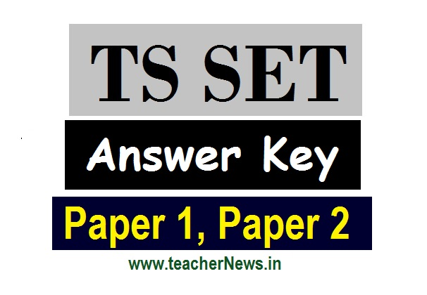 TS SET Answer Key 2020 - TSSET Paper 1, 2 Keys Subject wise, Question papers @telanganaset.org