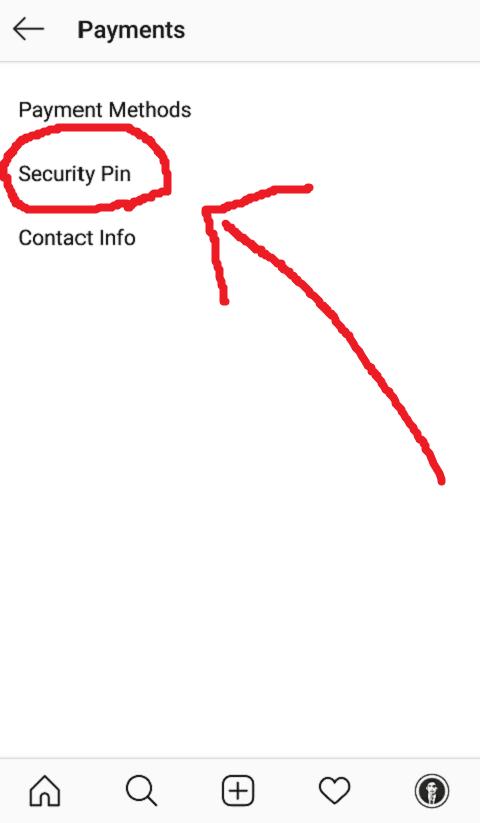 Buka Menu Security Pin Instagram