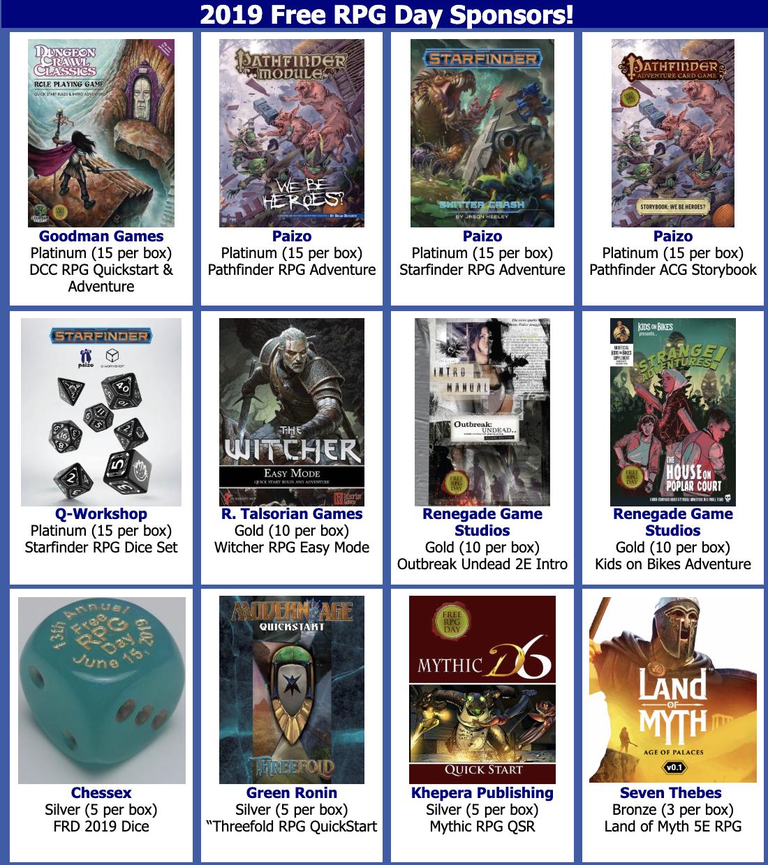 Tenkar's Tavern: Free RPG Day is June 15th