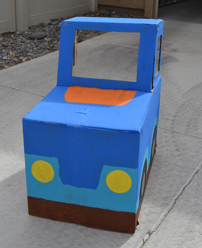 10 Ideas About Cardboard Box Cars On Pinterest: Nifty Thrifty & Thriving: Cardboard Box Cars