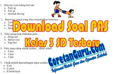 Download Soal UAS PJOK Kelas 3 Semester 1 Kurikulum 2013
