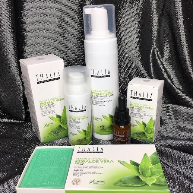 Thalia Natural Aloe Vera Serisi yüz ürünleri köpük krem sos serum sabun
