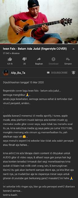 audio alip_ba_ta diklaim hak cipta dan dimanfaatkan