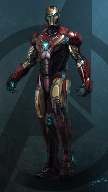 ironman redesign phone wallpaper in 1080p