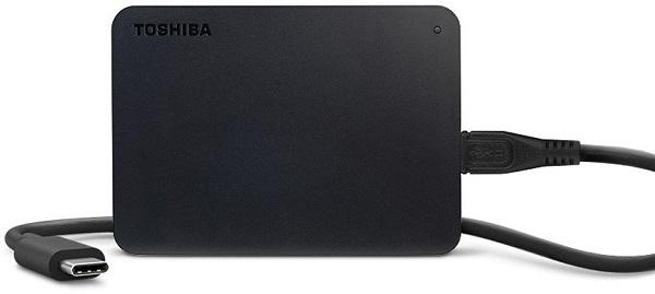 """Външен хард диск Toshiba Canvio Basics 1TB, 2.5"""", USB 3.0, Черен"""