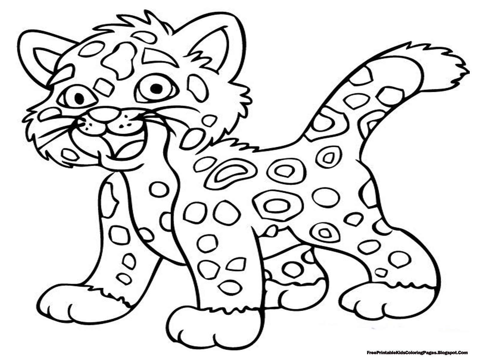 Coloring pitchers of animals - Printable Jaguar Coloring Pictures