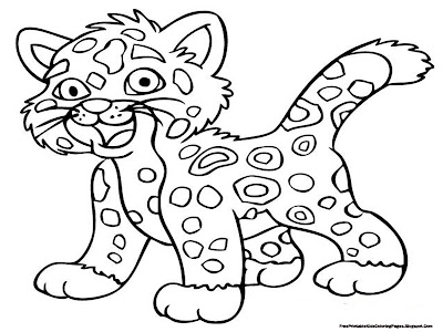 Printable Jaguar Coloring Pictures