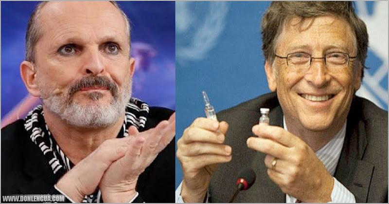 ES ENSERIO   Miguel Bosé asegura que BIll Gates nos controlará con chips inyectados en vacunas de Covid