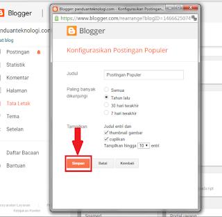 cara pasang widget blog dengan mudah