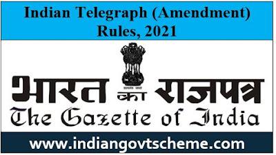 Indian Telegraph (Amendment) Rules