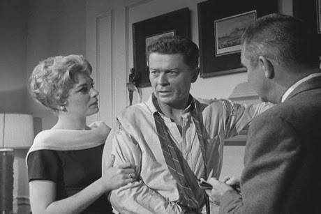 Joanna Moore, Arthur Franz and Phil Harvey as police sgt. Powell