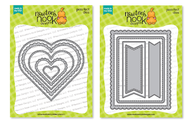Heart Frames Die Set, Frames & Flags Die Set by Newton's Nook Designs