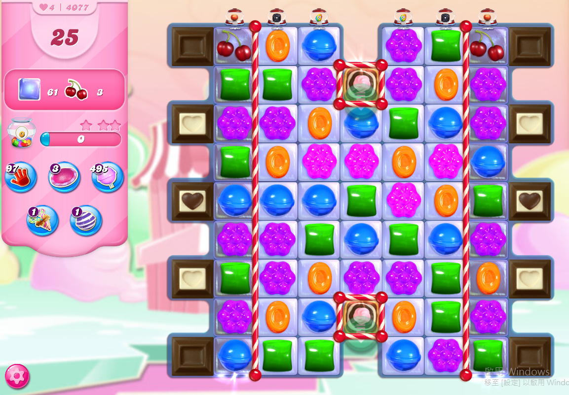 Candy Crush Saga level 4077