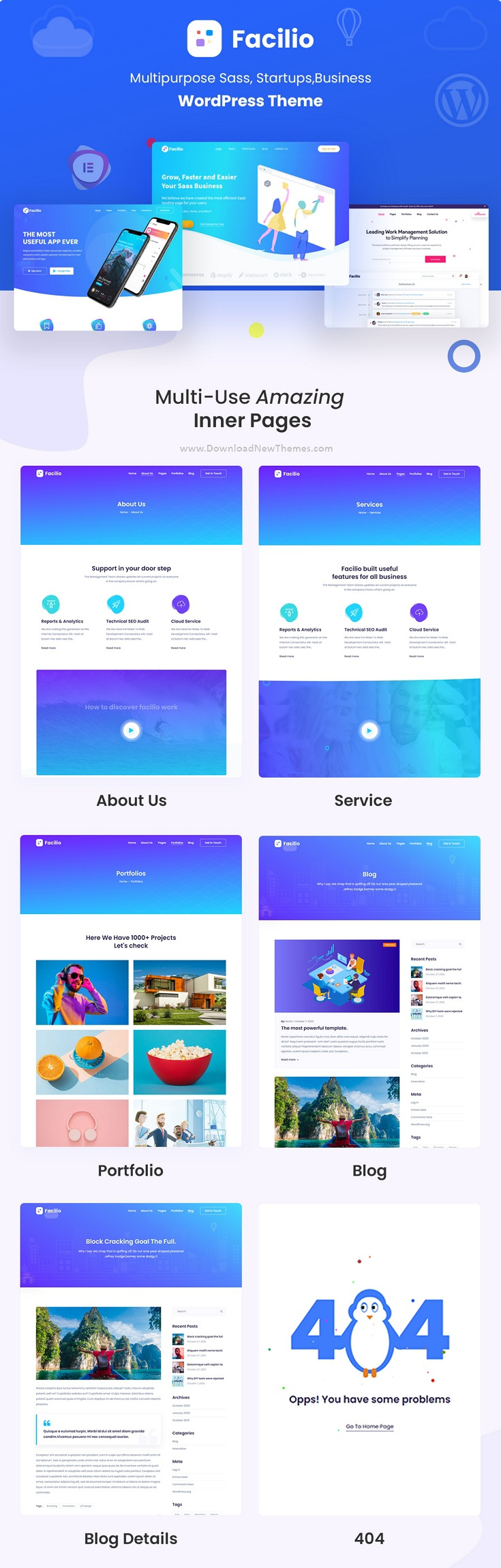 MultiPurpose WordPress Theme for Saas Startup