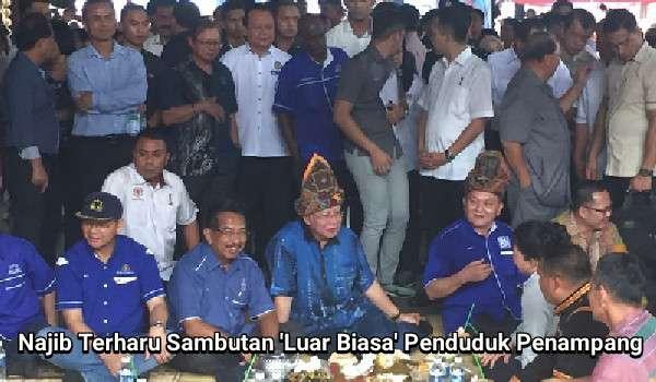 Najib Terharu Sambutan 'Luar Biasa' Penduduk Penampang