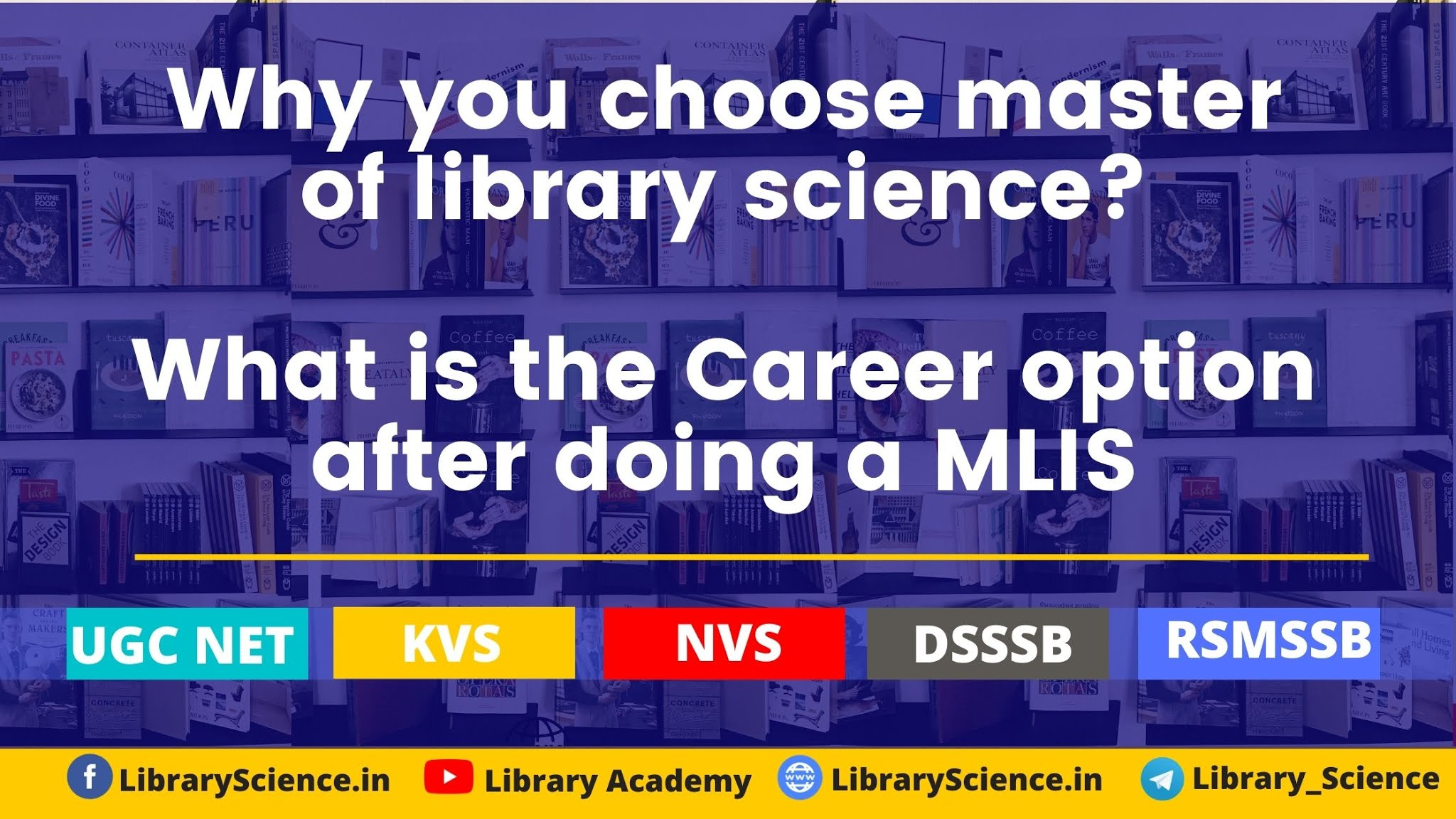 Why you choose master of library science