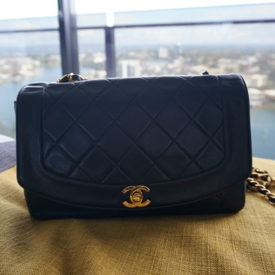bagoftheday Chanel vintage quilted lambskin flap | away from the blue