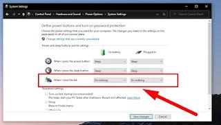 Cara Agar Laptop Tetap Menyala Saat Ditutup Windows 10