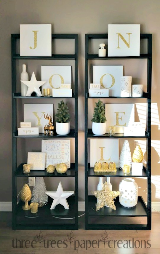 Three Trees {paper} Creations: Christmas Shelf Decor:
